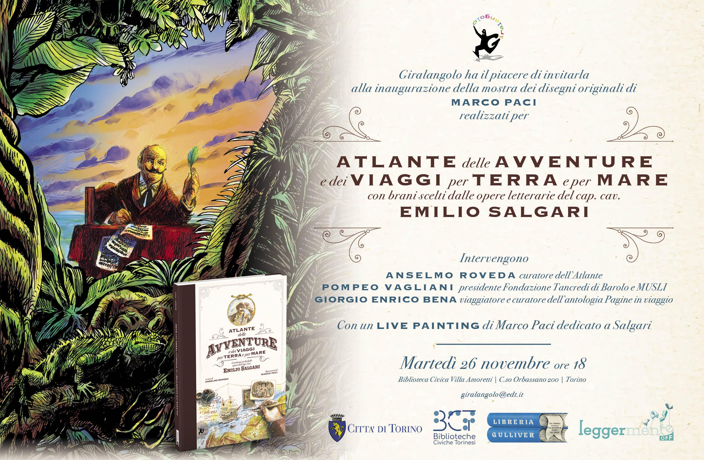 Inaugurazione mostra Atlante Salgari Torino